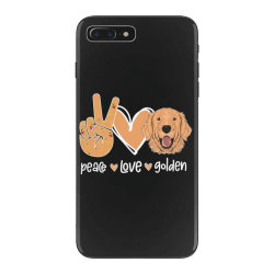 Peace Love Golden iPhone 7 Plus Case | Artistshot