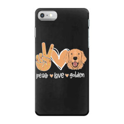 Peace Love Golden iPhone 7 Case | Artistshot