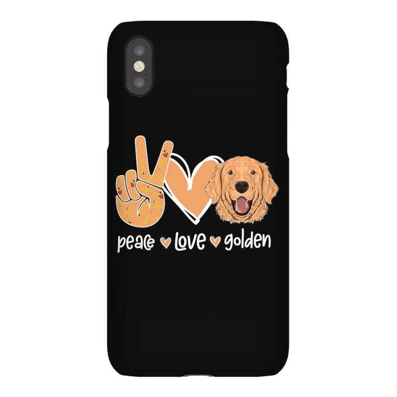 Peace Love Golden Iphonex Case | Artistshot