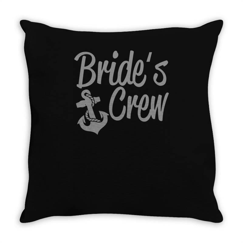 Bride's Crew Cute Anchor Throw Pillow | Artistshot