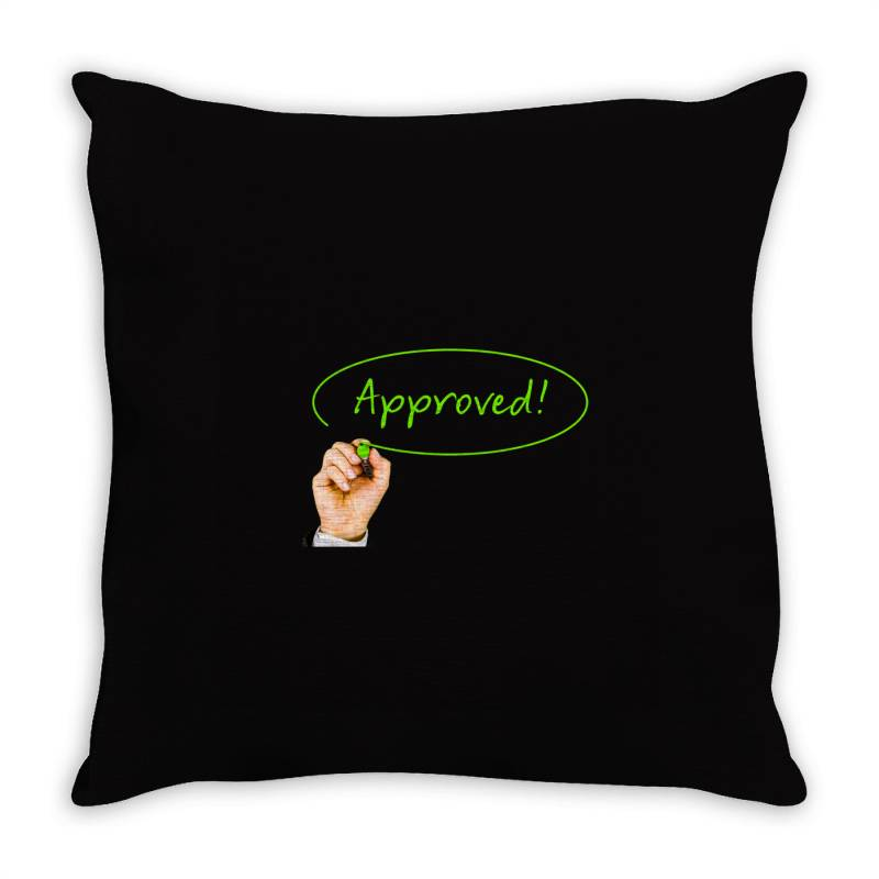 Approved Throw Pillow | Artistshot