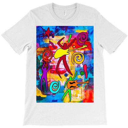 Rock N Roll Abstract Classic T Shirt T-shirt Designed By Blackstars