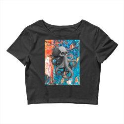 skullsquid abstract classic t shirt Crop Top | Artistshot
