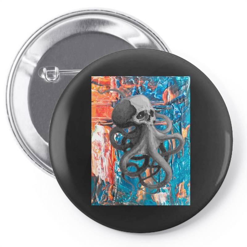 Skullsquid Abstract Classic T Shirt Pin-back Button | Artistshot