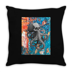 skullsquid abstract classic t shirt Throw Pillow | Artistshot