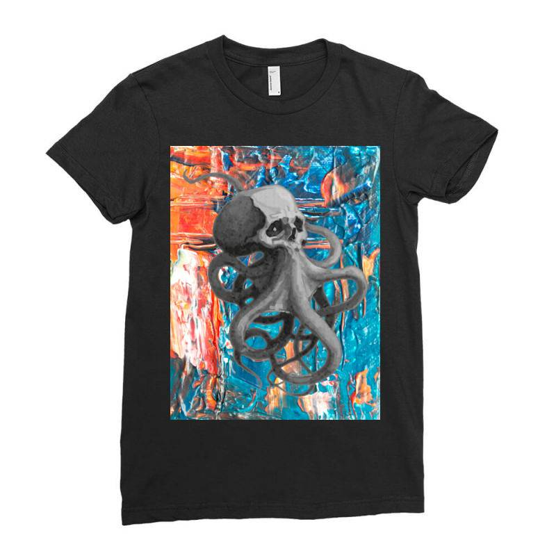 Skullsquid Abstract Classic T Shirt Ladies Fitted T-shirt | Artistshot