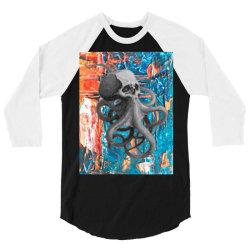 skullsquid abstract classic t shirt 3/4 Sleeve Shirt   Artistshot