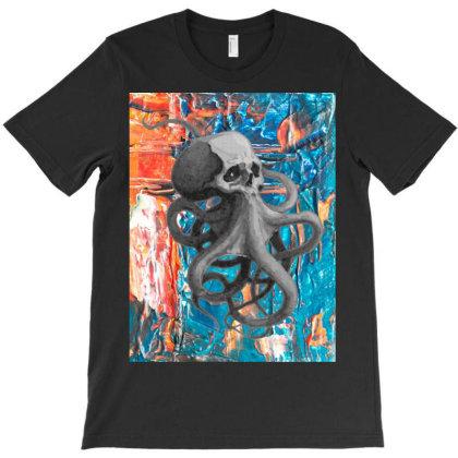 Skullsquid Abstract Classic T Shirt T-shirt Designed By Blackstars