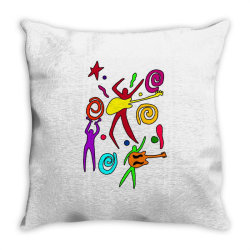 rock n roll classic t shirt Throw Pillow | Artistshot