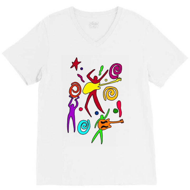 Rock N Roll Classic T Shirt V-neck Tee | Artistshot