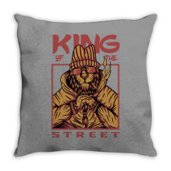 King of the street Throw Pillow | Artistshot