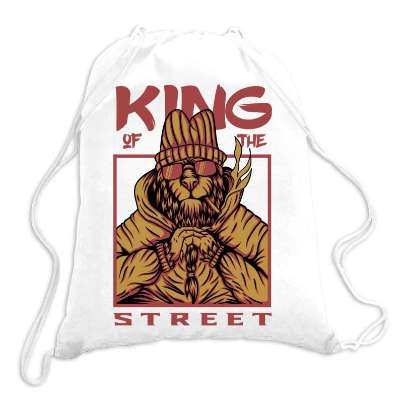 King Of The Street Drawstring Bags | Artistshot