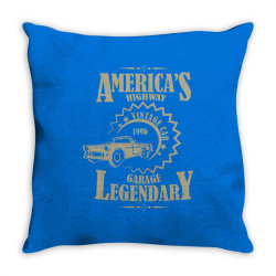 American's higway garage legendary Throw Pillow | Artistshot