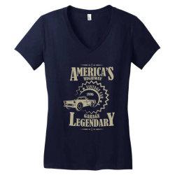 American's higway garage legendary Women's V-Neck T-Shirt | Artistshot