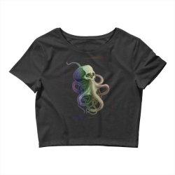 skullsquid rainbow classic t shirt Crop Top | Artistshot