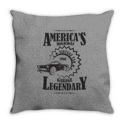 American's higway garage legendary Throw Pillow | Artistshot
