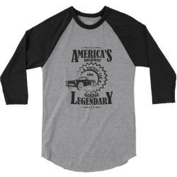American's higway garage legendary 3/4 Sleeve Shirt | Artistshot