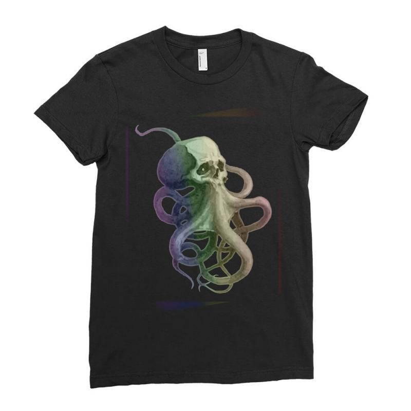Skullsquid Rainbow Classic T Shirt Ladies Fitted T-shirt | Artistshot