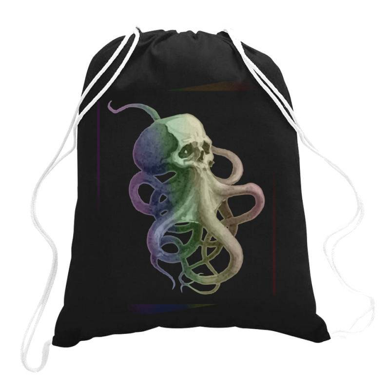 Skullsquid Rainbow Classic T Shirt Drawstring Bags   Artistshot