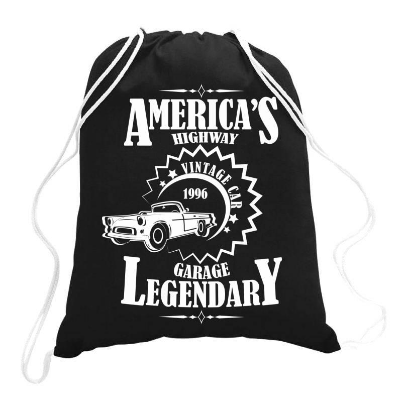 American's Higway Garage Legendary Drawstring Bags | Artistshot