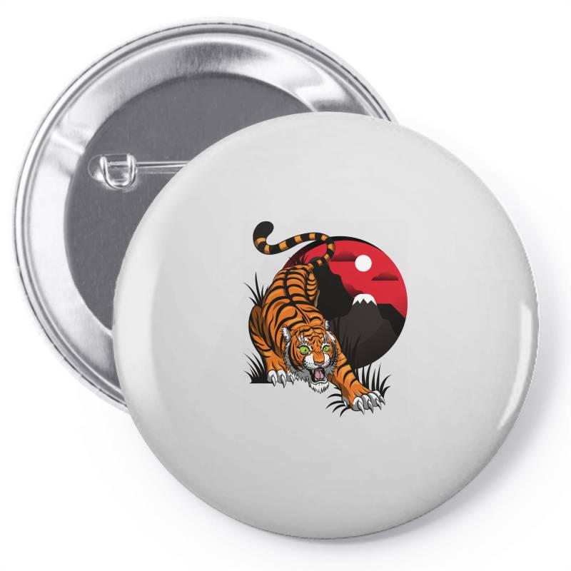 Tiger Pin-back Button | Artistshot