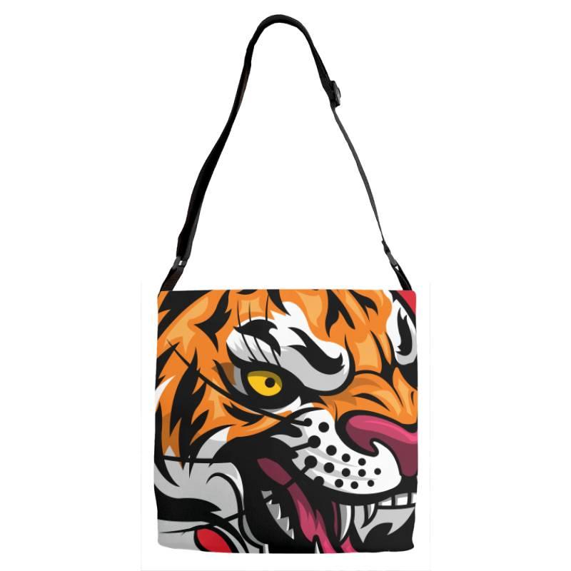 Tiger Adjustable Strap Totes | Artistshot
