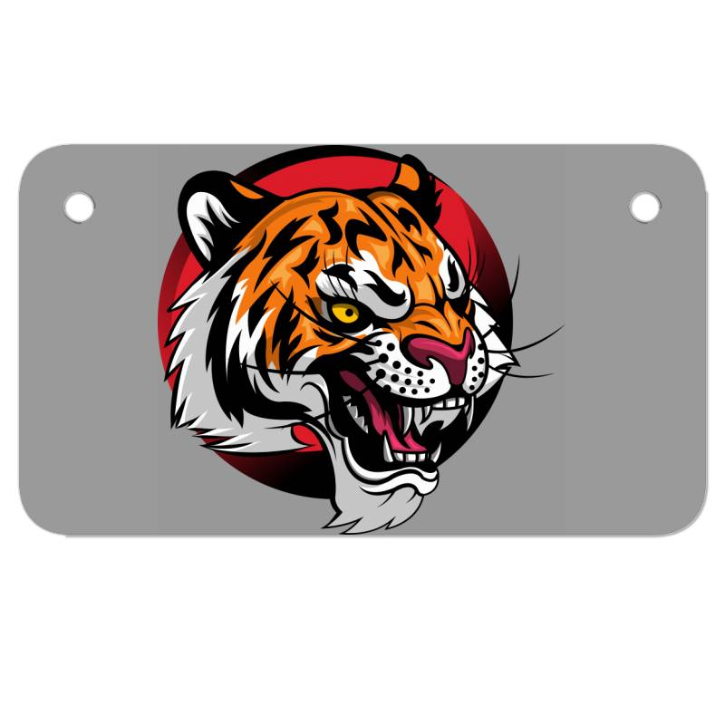 Tiger Motorcycle License Plate | Artistshot