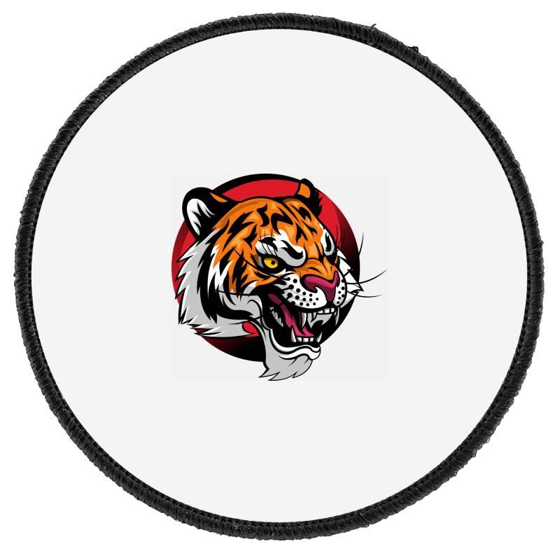 Tiger Round Patch   Artistshot