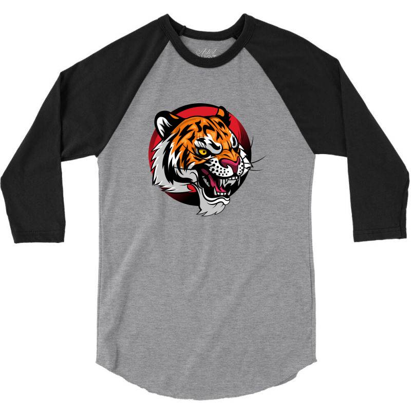 Tiger 3/4 Sleeve Shirt | Artistshot