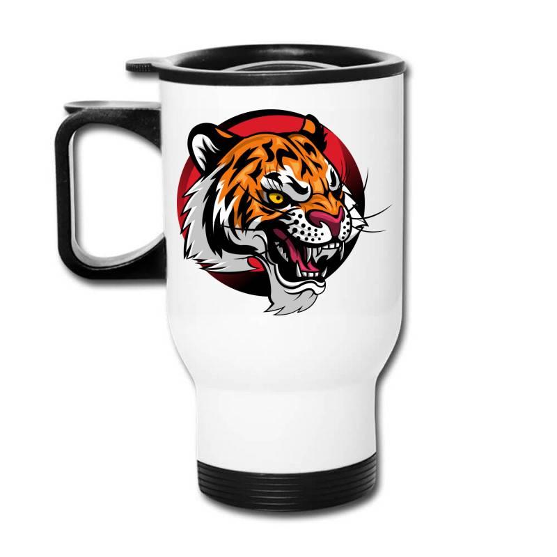Tiger Travel Mug   Artistshot
