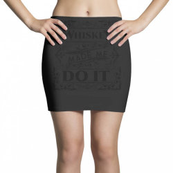 Whiskey, party, water of life Mini Skirts   Artistshot