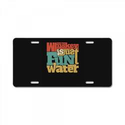 Whiskey, single malt, blended License Plate | Artistshot
