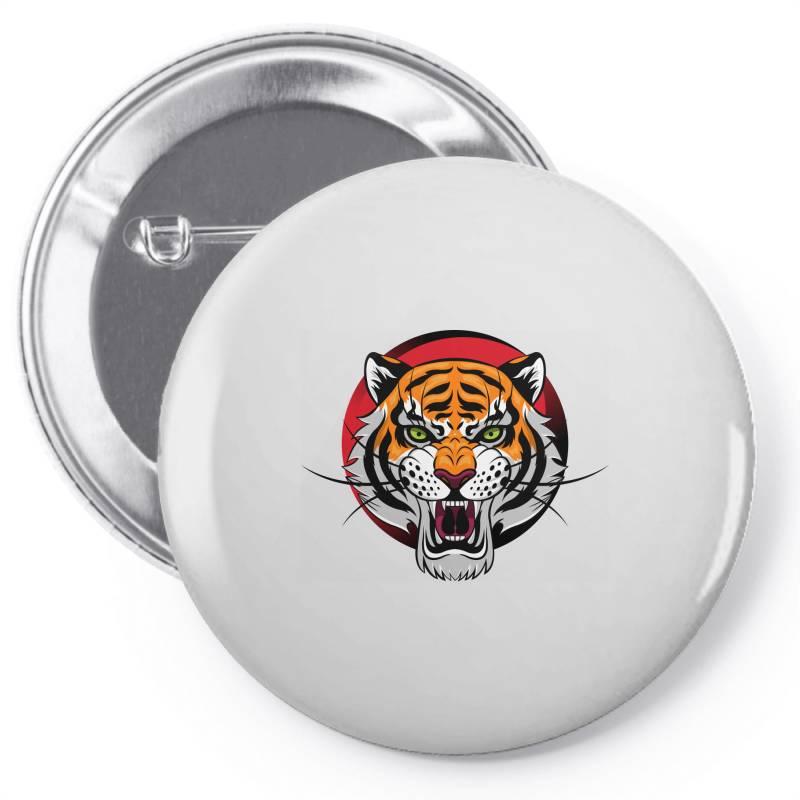 Tiger Pin-back Button   Artistshot