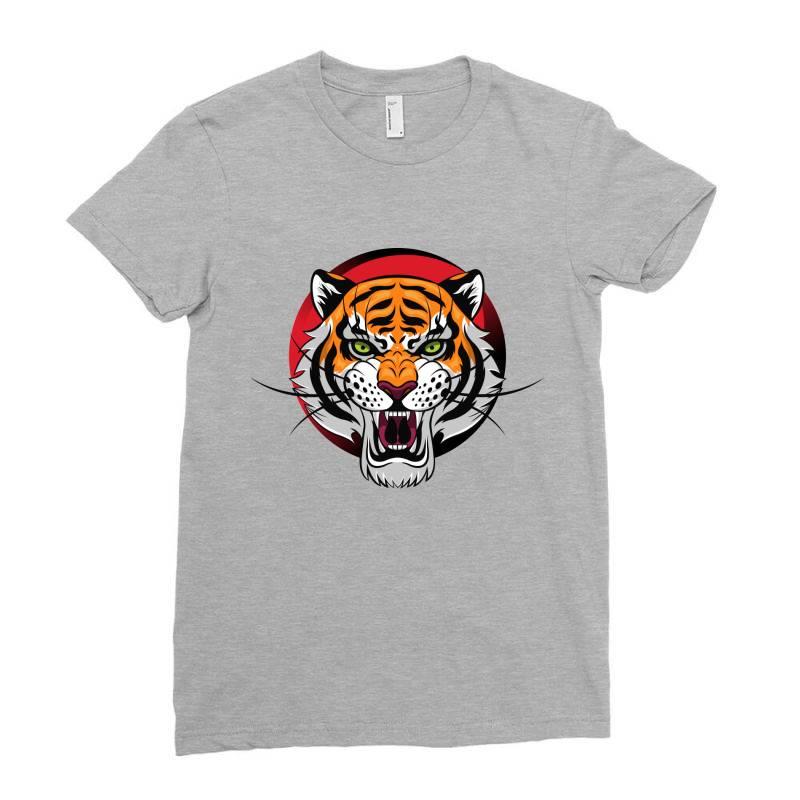 Tiger Ladies Fitted T-shirt | Artistshot
