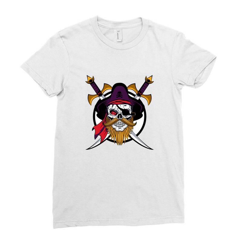 Pirates Ladies Fitted T-shirt   Artistshot