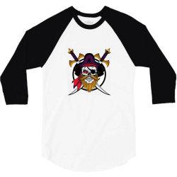 Pirates 3/4 Sleeve Shirt   Artistshot