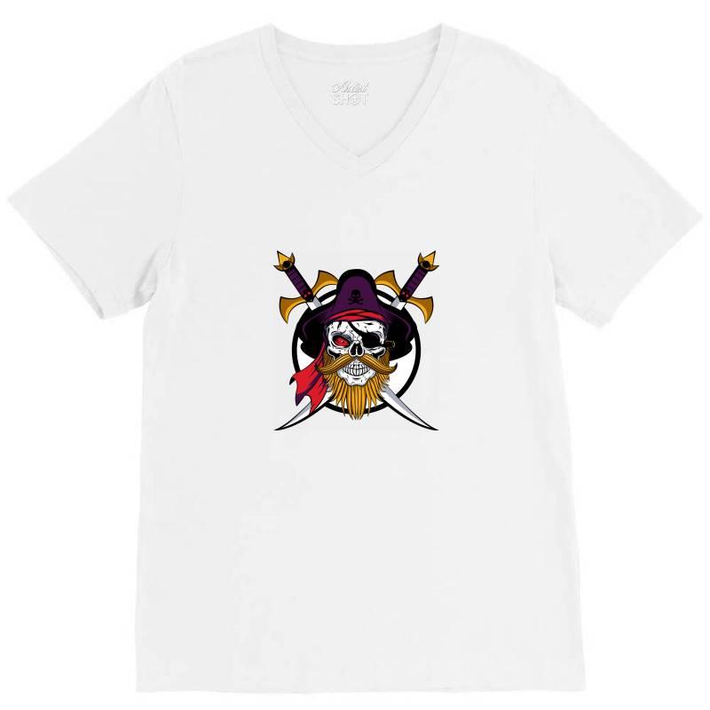 Pirates V-neck Tee   Artistshot
