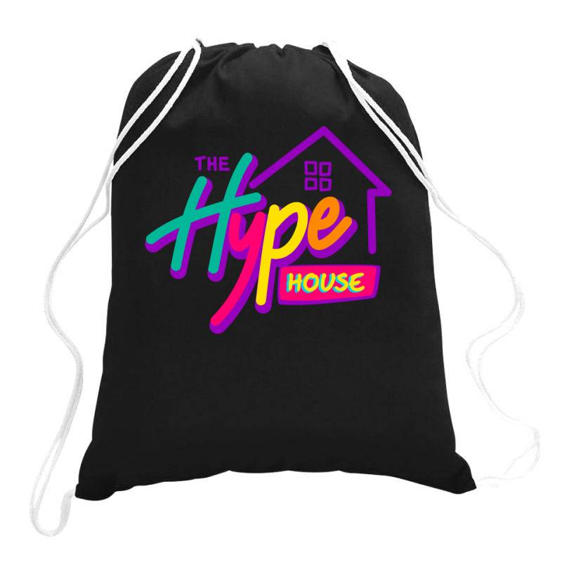 The Hype House Classic T Shirt Drawstring Bags | Artistshot