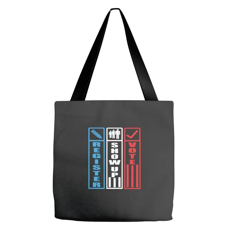 Register Show Up Vote Tote Bags | Artistshot