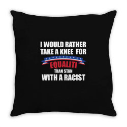 take a knee for equality Throw Pillow | Artistshot