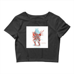 Skull man Crop Top | Artistshot