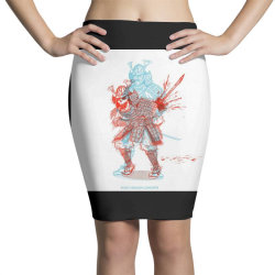 Skull man Pencil Skirts | Artistshot
