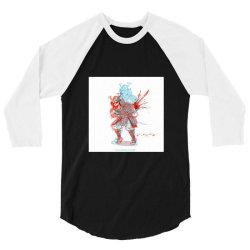 Skull man 3/4 Sleeve Shirt | Artistshot