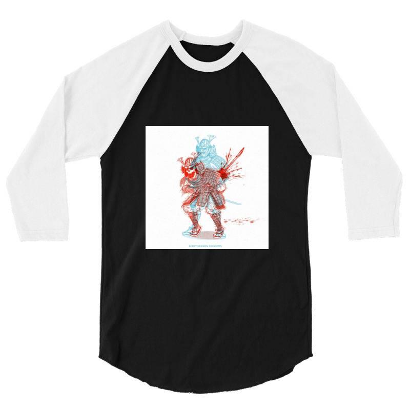 Skull Man 3/4 Sleeve Shirt   Artistshot