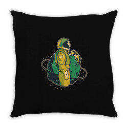 Astronaut in space Throw Pillow | Artistshot