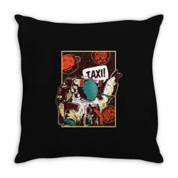 Space ride, taxi Throw Pillow | Artistshot