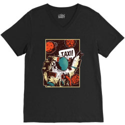 Space ride, taxi V-Neck Tee   Artistshot