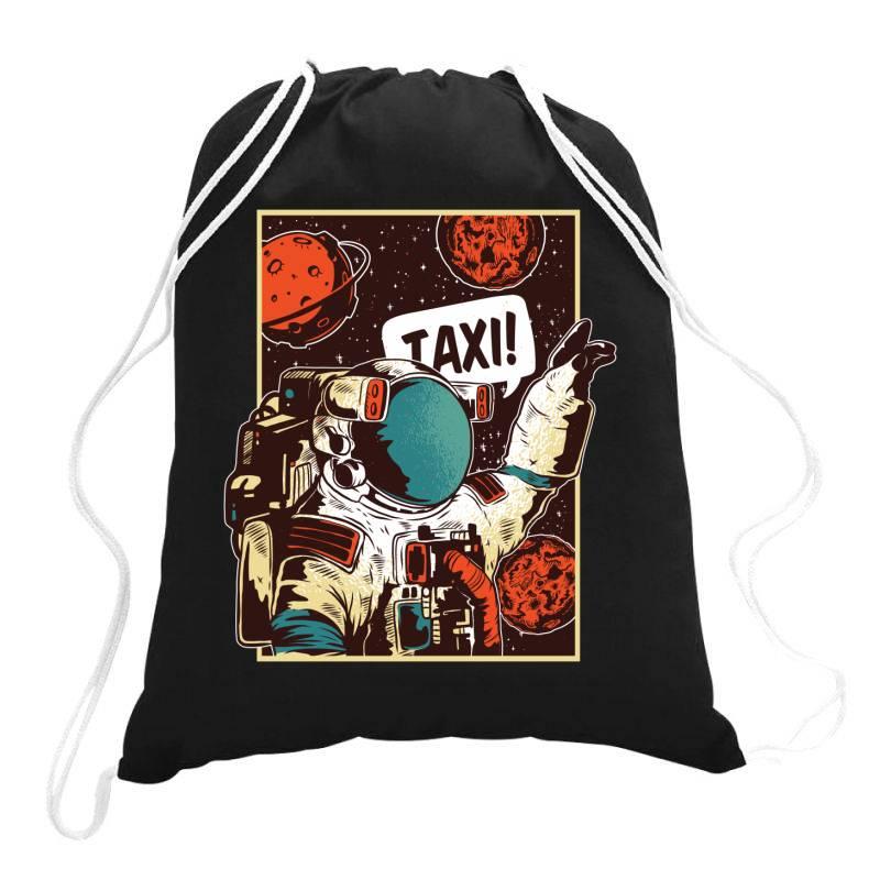 Space Ride, Taxi Drawstring Bags | Artistshot