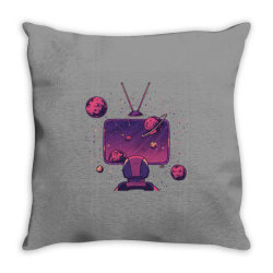 Space Tv Throw Pillow   Artistshot