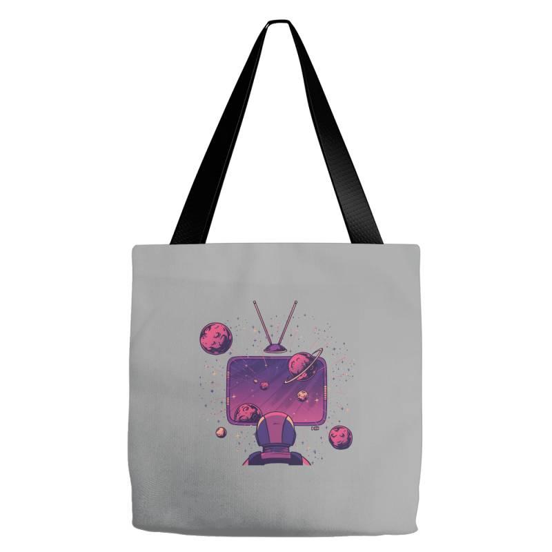 Space Tv Tote Bags   Artistshot
